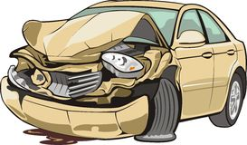 Crashed vehicle Stock Photography