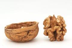 Crashed walnut Royalty Free Stock Photos