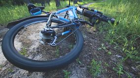 Crashing bicycle accident stock footage