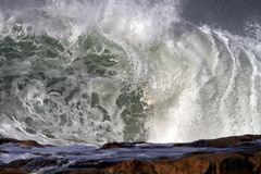 Crashing big wave Royalty Free Stock Photo