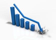 Crashing business bar graph Stock Image