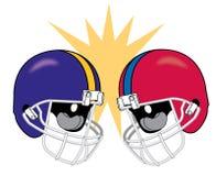 Crashing Football Helmets Stock Images