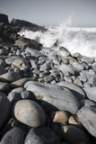 Crashing Ocean Wave. Waves Crashing on Ocean Rocks on a California Beach Stock Photography