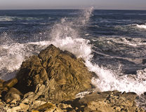 Crashing Pacific Wave. This is a picture of a crashing Pacific wave near Monterey, California Royalty Free Stock Images