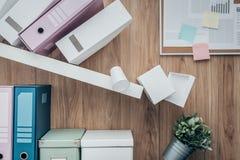 Crashing shelf in the office Royalty Free Stock Image