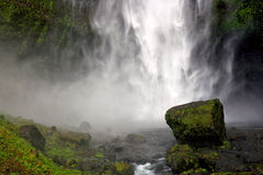 Crashing Water. Cascading waterfall, Oregon Royalty Free Stock Photography
