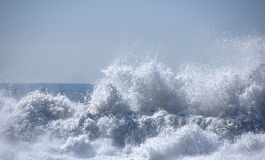 Crashing Wave. S on a California beach stock photography