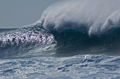 Crashing wave. At La Santa in Lanzarote Stock Photos
