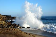 Crashing wave 2. Wave crashing on rocks stock photo