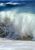 Crashing Wave. Photograph of a crashing beach break at Sandy Beach, on the South Shore of Oahu, Hawaii royalty free stock images