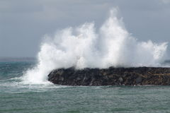 Crashing Wave. A crashing wave in Kauai Hawaii royalty free stock photo