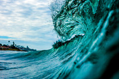 Crashing Wave. A Wave breaks on a reef in San Diego, California Royalty Free Stock Photos