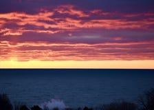 Crashing Wave at Dawn Royalty Free Stock Photography