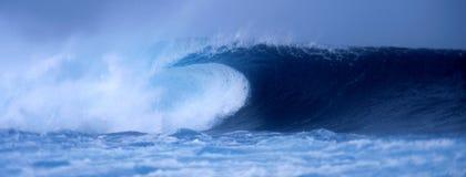 Crashing wave at El Quemao Lanzarote. Close up of a tubing wave at El Quemao, La Santa in Lanzarote 2004 Royalty Free Stock Images