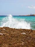 Crashing wave at Ibiza coast Royalty Free Stock Photography