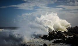 Crashing_wave_on_shorline 图库摄影