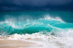 Crashing wave in storm Stock Photos