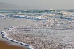 Crashing waves. On Cape Vidal beach, South Africa Royalty Free Stock Photo
