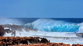 Crashing waves. Up to 10m on the westcoast of australia Stock Photo