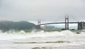 Crashing waves at baker beach in san francisco Stock Image