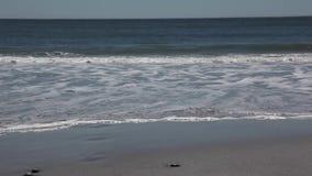 Crashing Waves on beach stock video