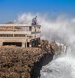 Crashing Waves at  Boka Ascension  Curacao Royalty Free Stock Image