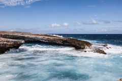 Crashing Waves at  Boka Ascension  Curacao Royalty Free Stock Photography