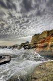 Crashing Waves at Cape Kiwanda. And Haystack Rock Stock Photography