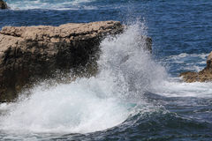 Crashing waves at Capo di Sorrento, Italy. Stock Photography