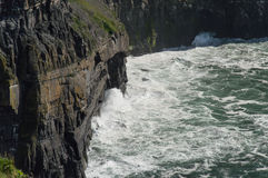 Crashing waves, Cliffs of Moher Royalty Free Stock Image