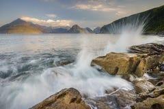 Crashing waves, Elgol, Isle of Skye Royalty Free Stock Photo