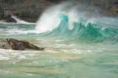 Crashing Waves on the Na Pali Shoreline Royalty Free Stock Photos
