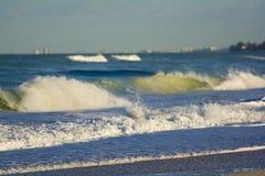 Crashing waves on the ocean Stock Image