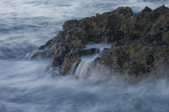 Crashing Waves On Coral Royalty Free Stock Photo