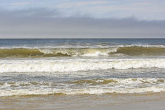 Crashing Waves on a Remote Beach Royalty Free Stock Photography