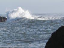 Crashing waves. Waves crashing on the rocks Royalty Free Stock Photos