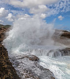 Crashing waves at  Shete Boka Curacao Stock Photos