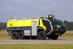 Crashtender firetruck Arkivbilder