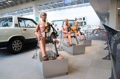 Crashtest-Attrappe in Toyota-Gedenkmuseum der Industrie und der Technologie lizenzfreie stockbilder
