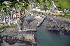 Craster from the air Royalty Free Stock Images