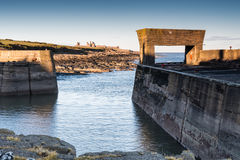 Craster Harbour entrance Royalty Free Stock Images