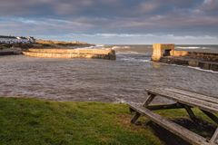 Craster Harbour at High Tide Royalty Free Stock Image
