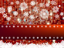 Crastmas card mosaic with light. EPS 8 Royalty Free Stock Photo