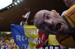 crasy румын футбола вентилятора Стоковое фото RF