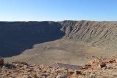 Cratère Arizona de météore Photographie stock libre de droits