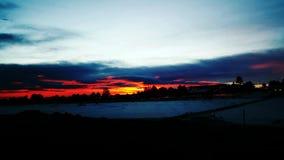 Cratère congelé de coucher du soleil de lever de soleil photos libres de droits