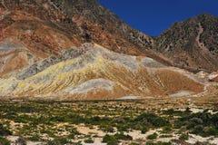 Cratère d'active de volcan de Nisyros image stock