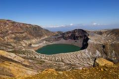 Cratère de bâti d'Okama photographie stock libre de droits