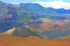 Cratère de Haleakala images libres de droits