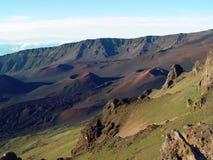 Cratère de Haleakala Photos libres de droits